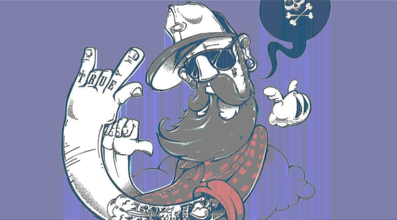 Hipster men illustration